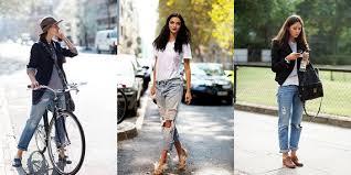 Yırtık Jean için stil önerileri