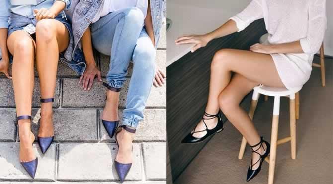 Rahat ve şık trend alarmı: Düz ayakkabılar