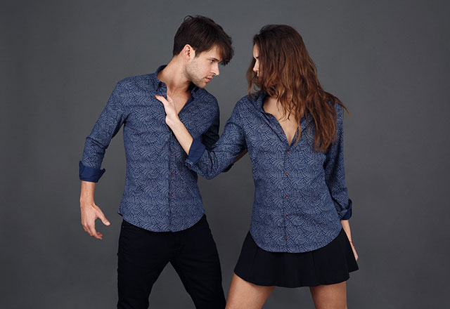kadınlar erkekler gömlek modelleri