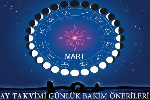 22 Mart 2019 Ay Takvimi Günlük Bakım Önerileri