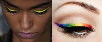 Renkli eyeliner ile gözler rengarenk