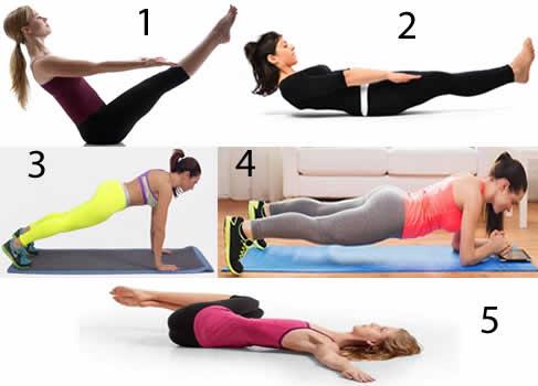 Sıkı bir karın için 5 yoga hareketi
